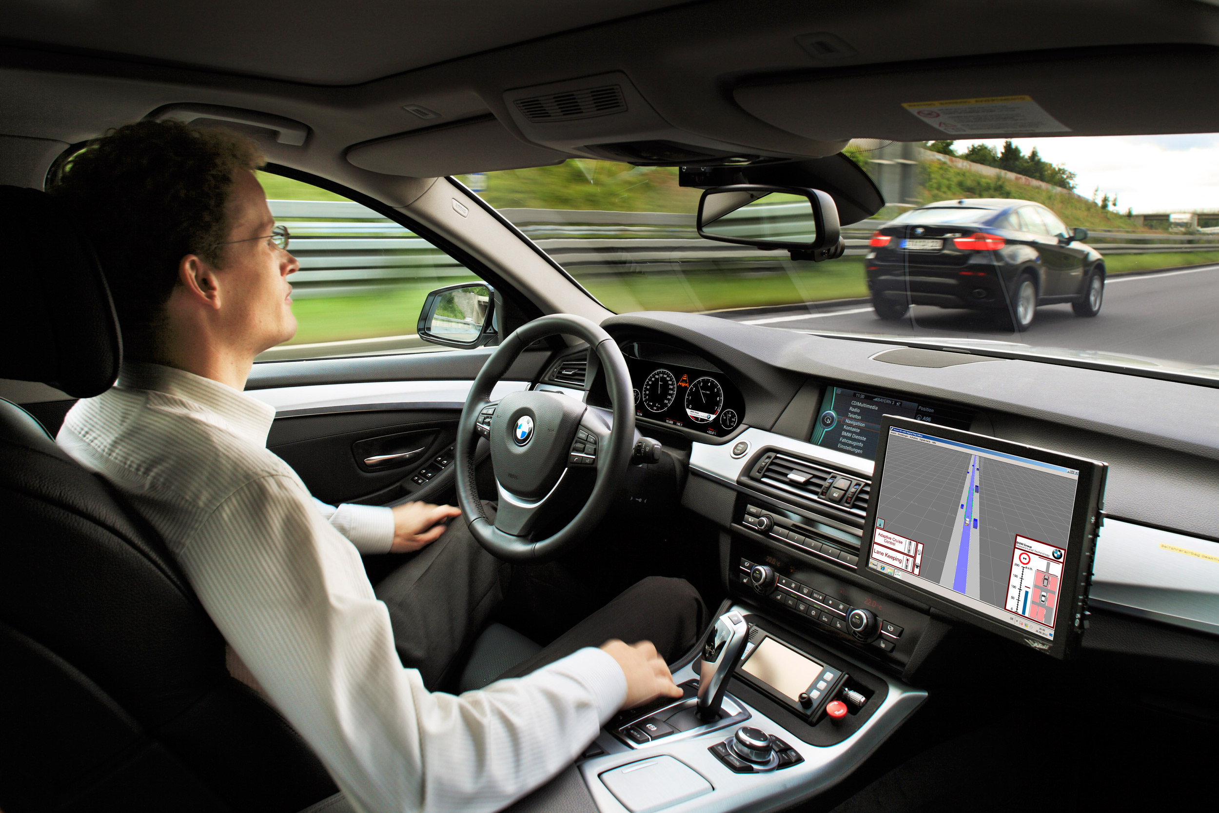 BMW self-driving interior