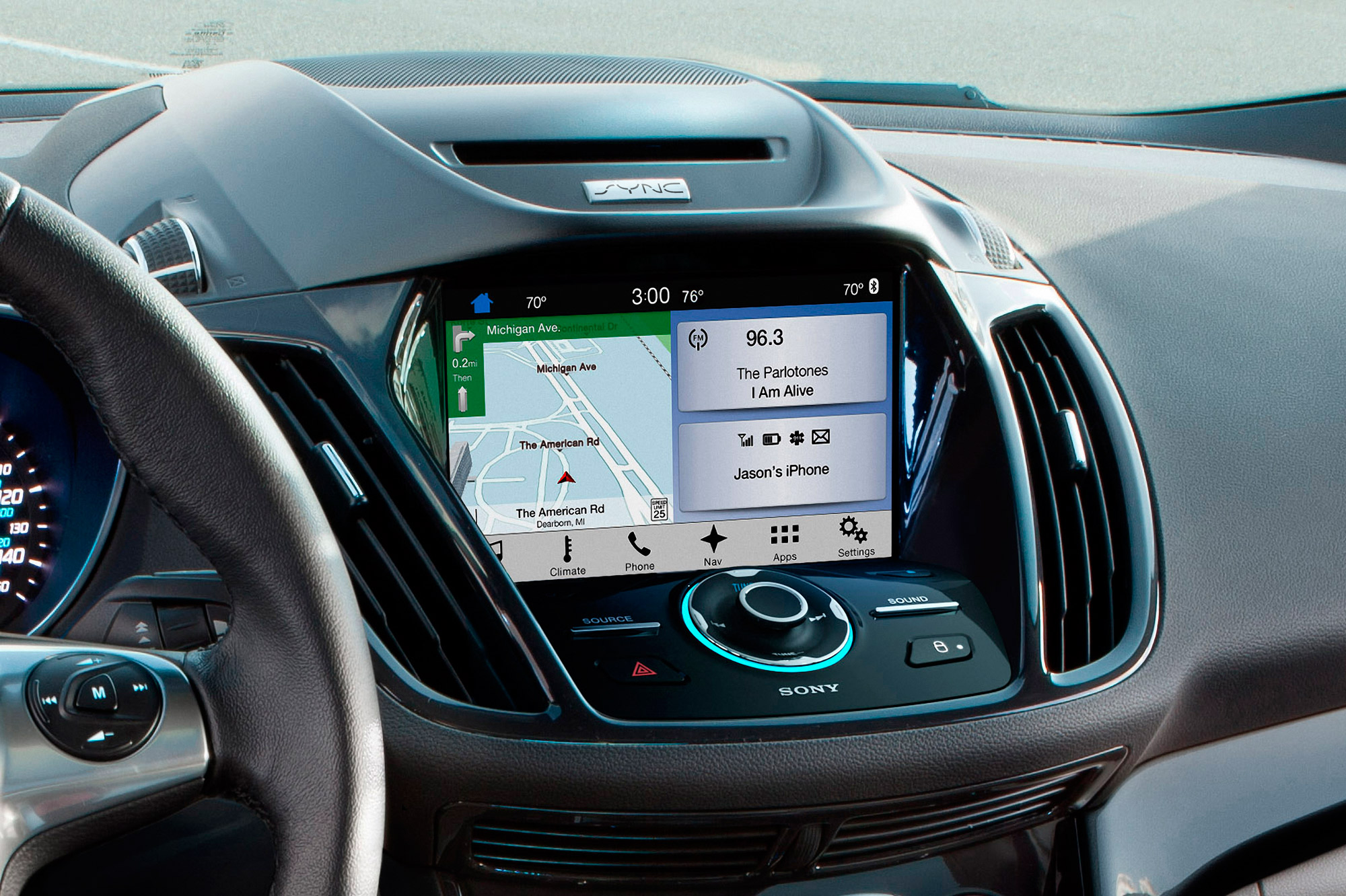 Ford Sync 3 interior