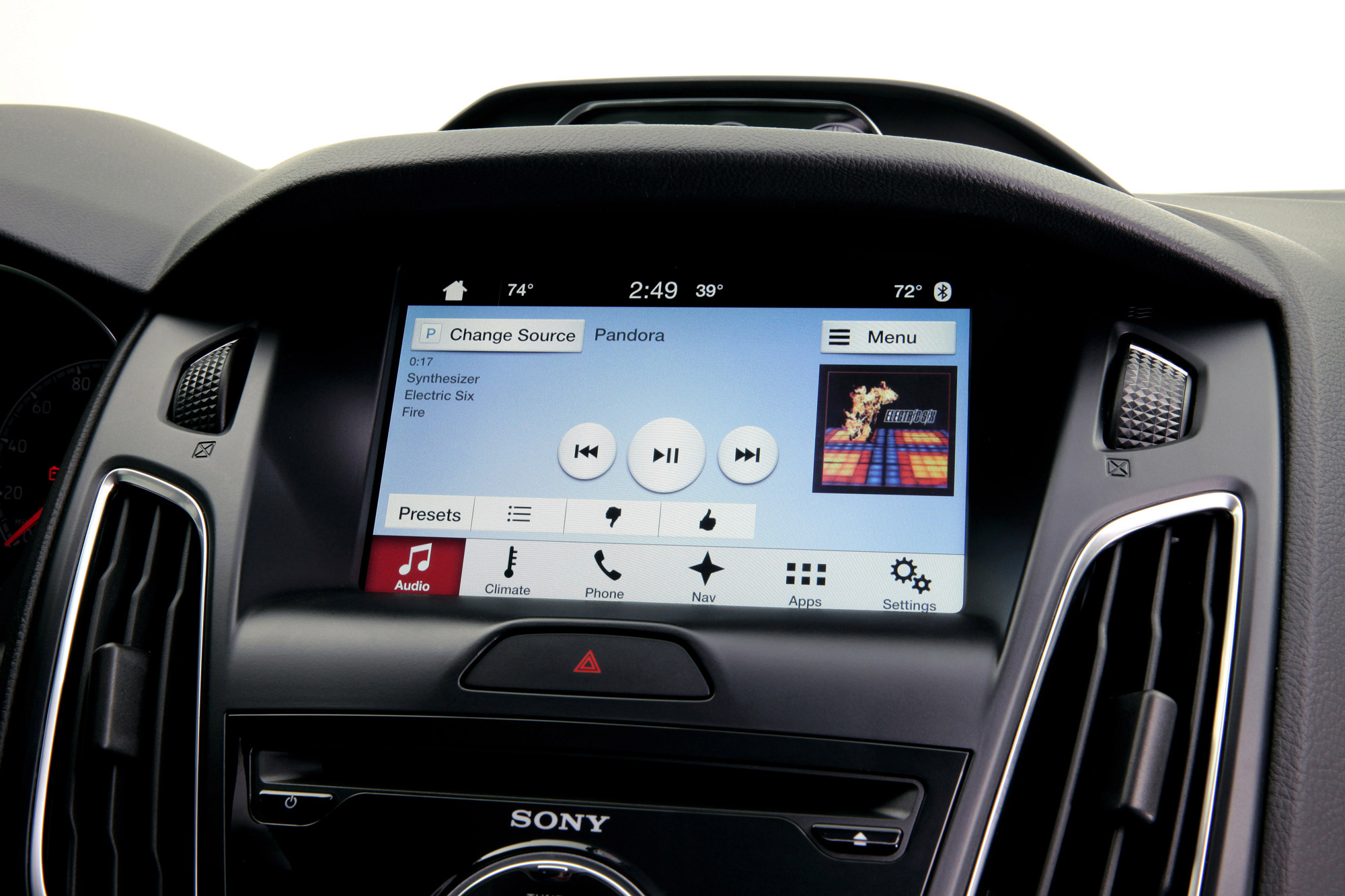 Ford Sync 3 interior