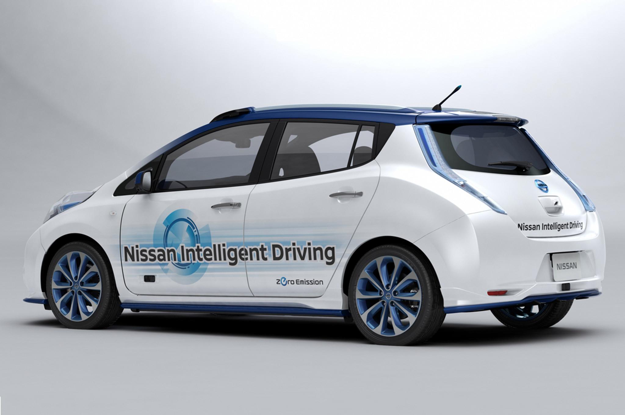 Nissan Leaf autonomous car