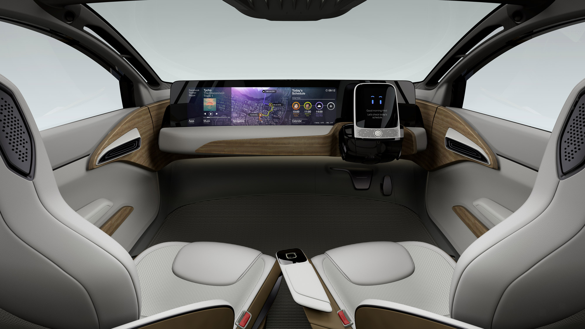 Nissan Leaf autonomous car interior