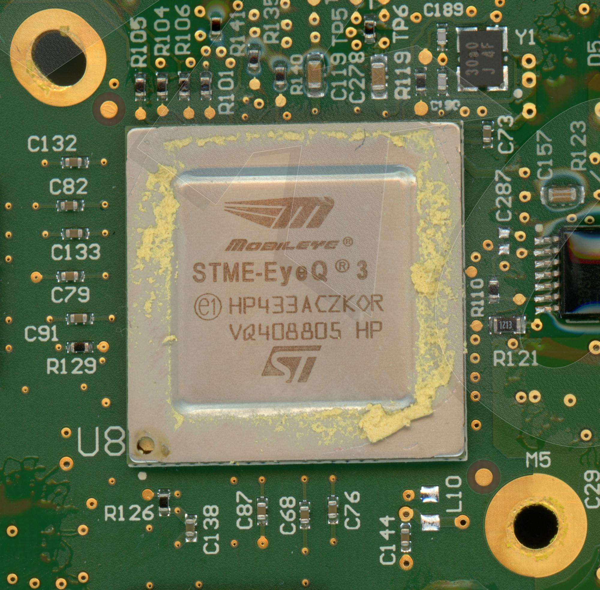 Tesla Mobileye EyeQ3 chip detail