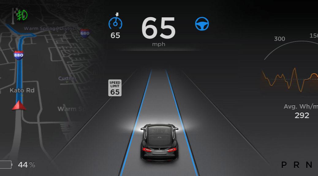 Tesla Model S autopilot graphics