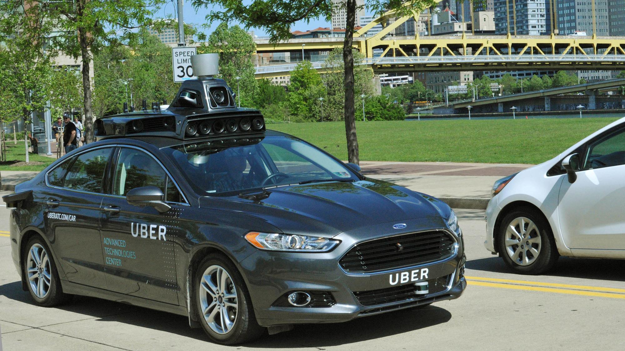 Uber Ford Fusion autonomous car