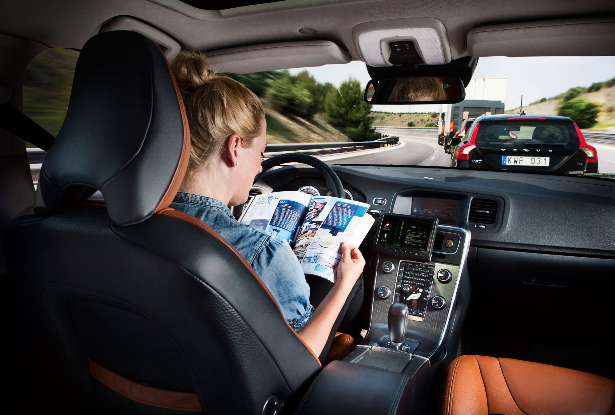 Volvo self driving car interior