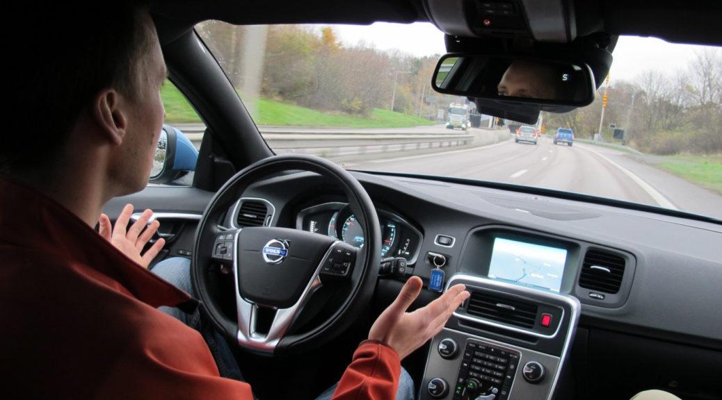 Volvo self driving car interior