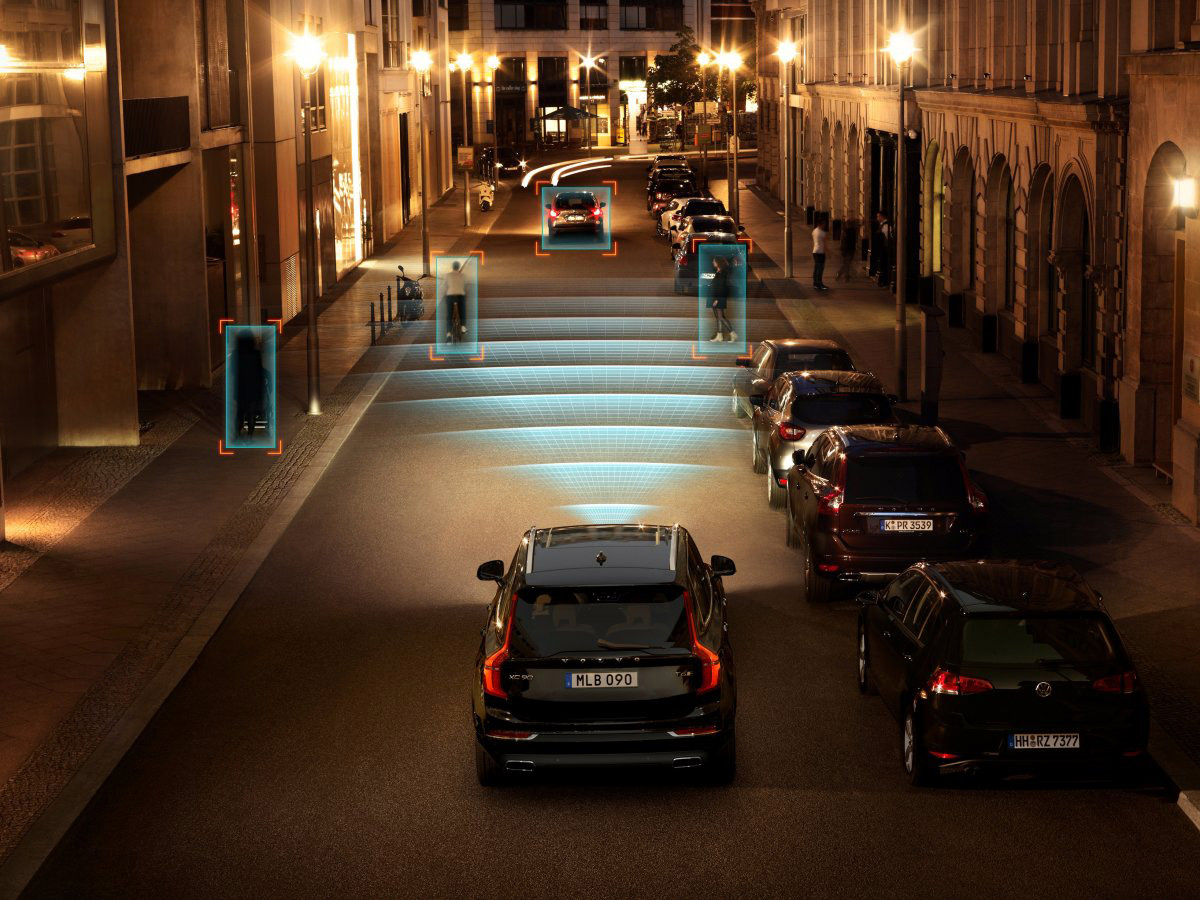 Volvo smart cities graphics night