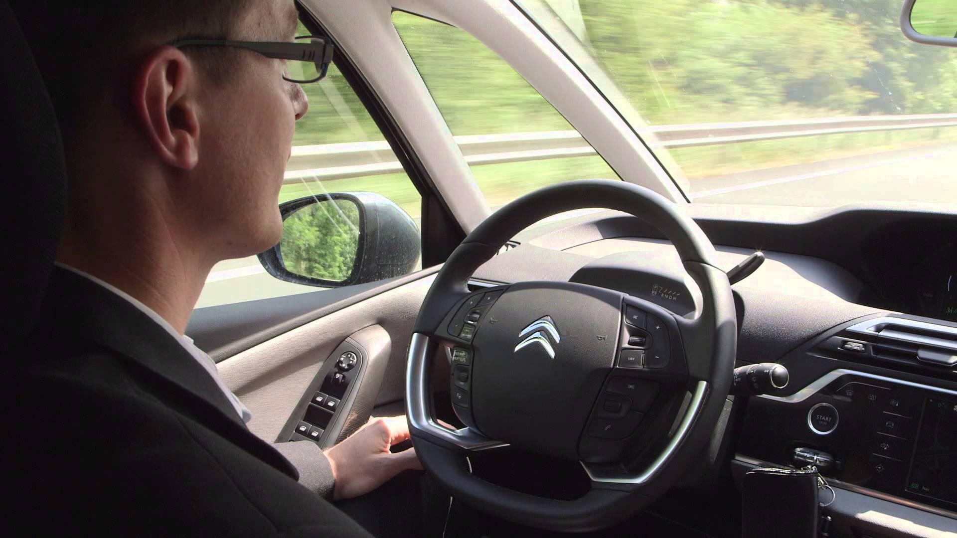 Citroen C4 Picasso autonomous car interior