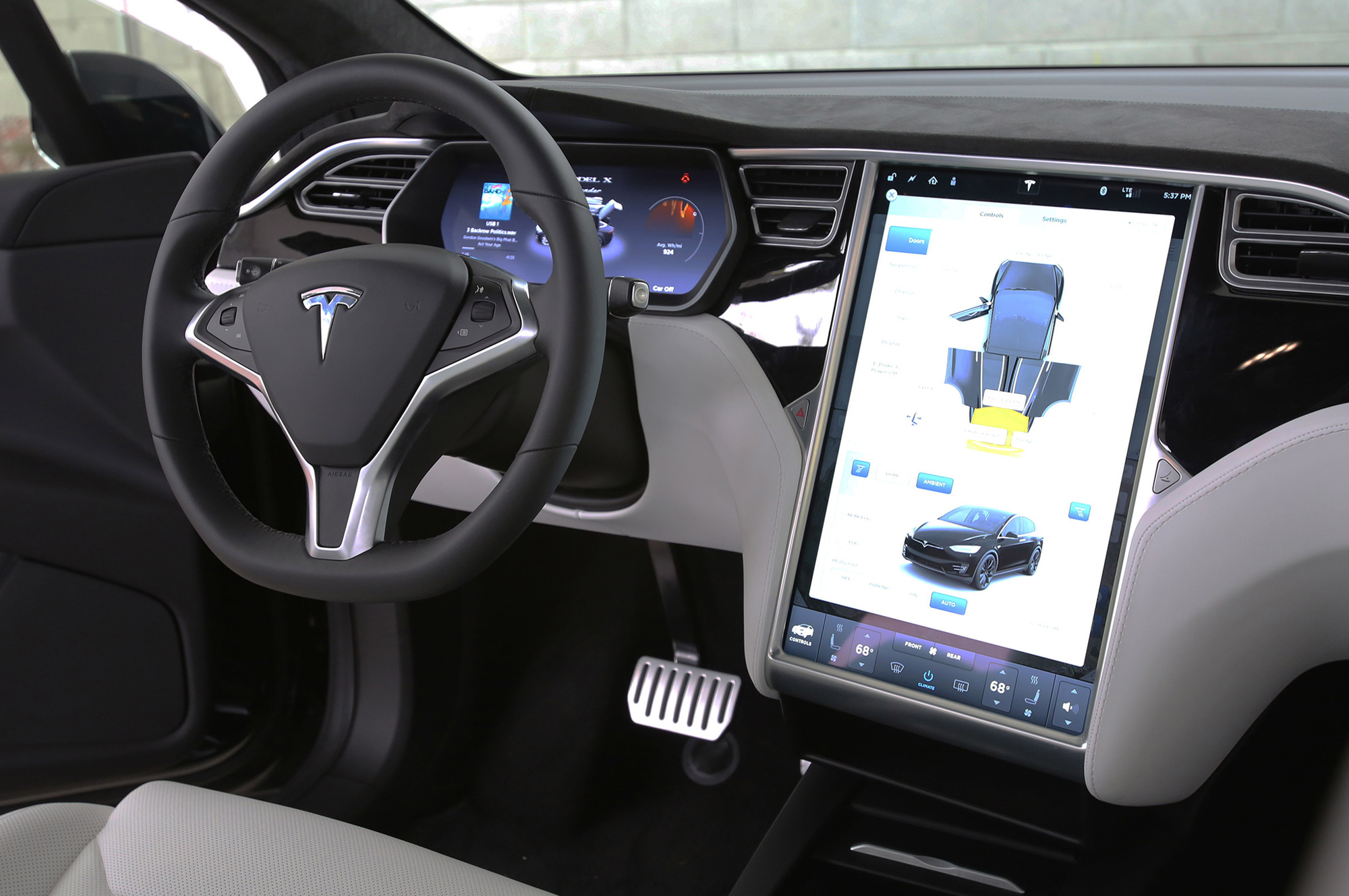 2017 Tesla X 75D ULL SELF DRIVING CAPABILITY and Cream ... |Self Driving Tesla Interior