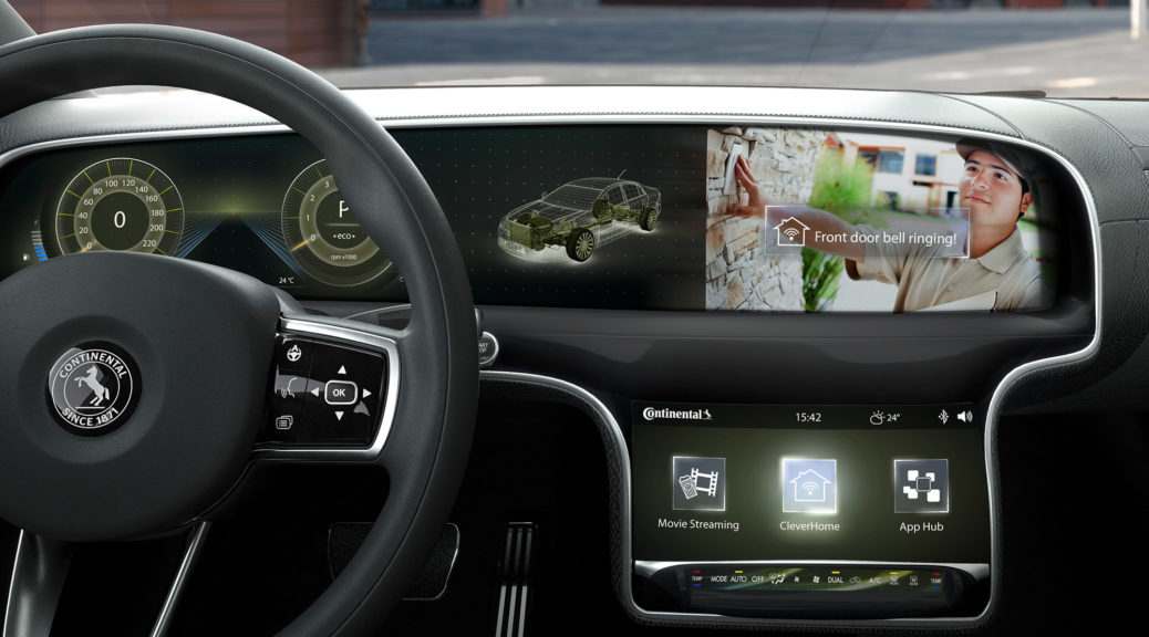 Continental connected car interior