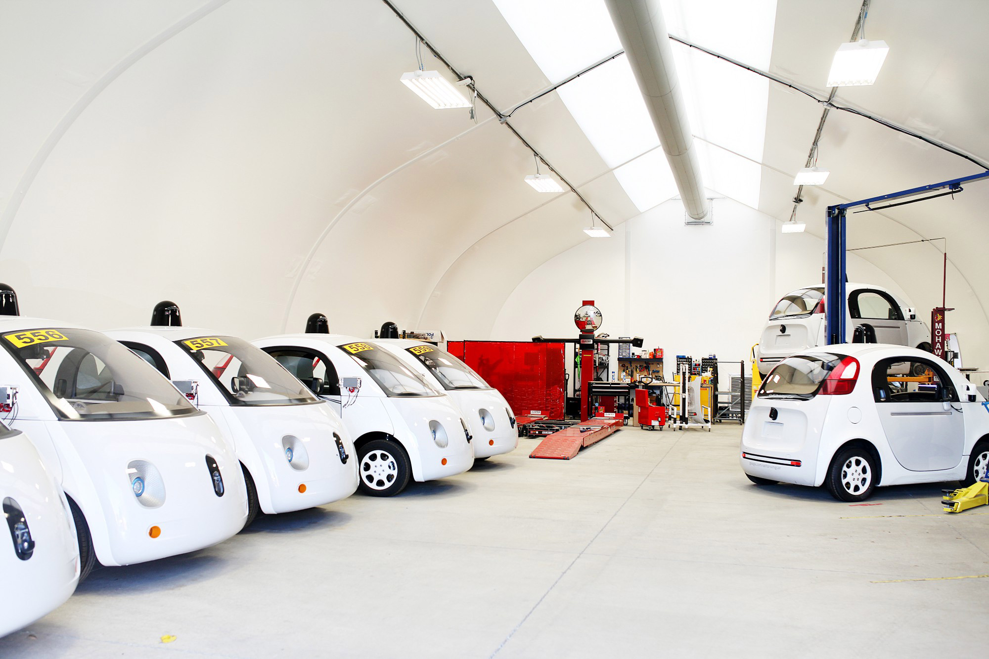 Google Car fleet garage