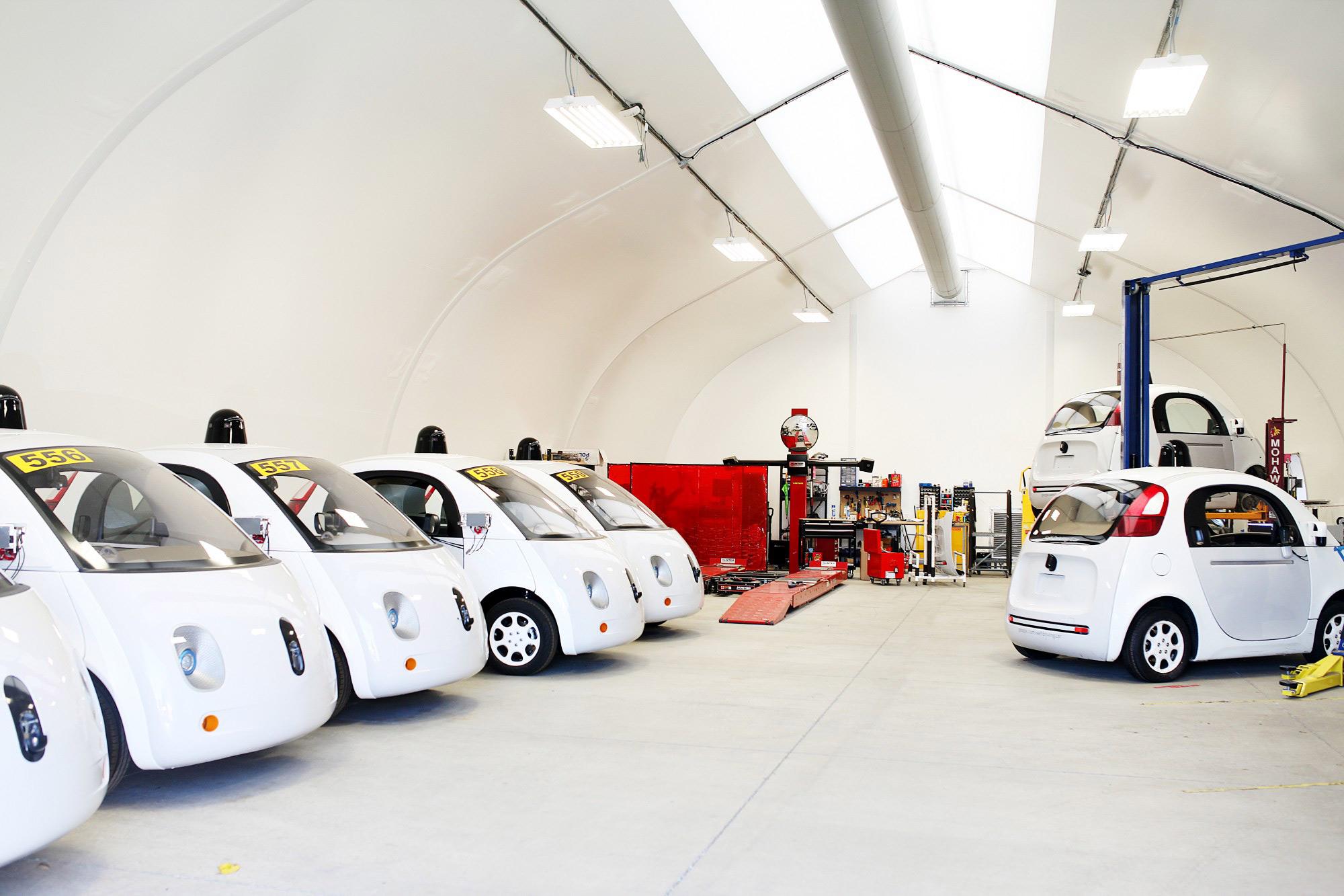 Google Car fleet garage