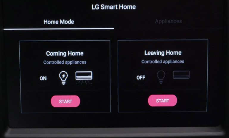 LG VW connected car UI prototype IFA 2016