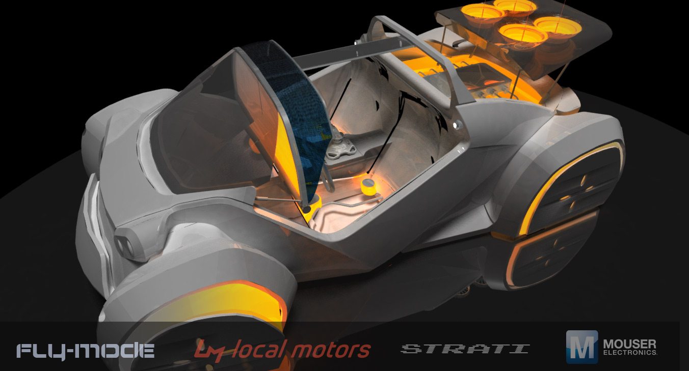 Local Motors 3D printed self-driving vehicle