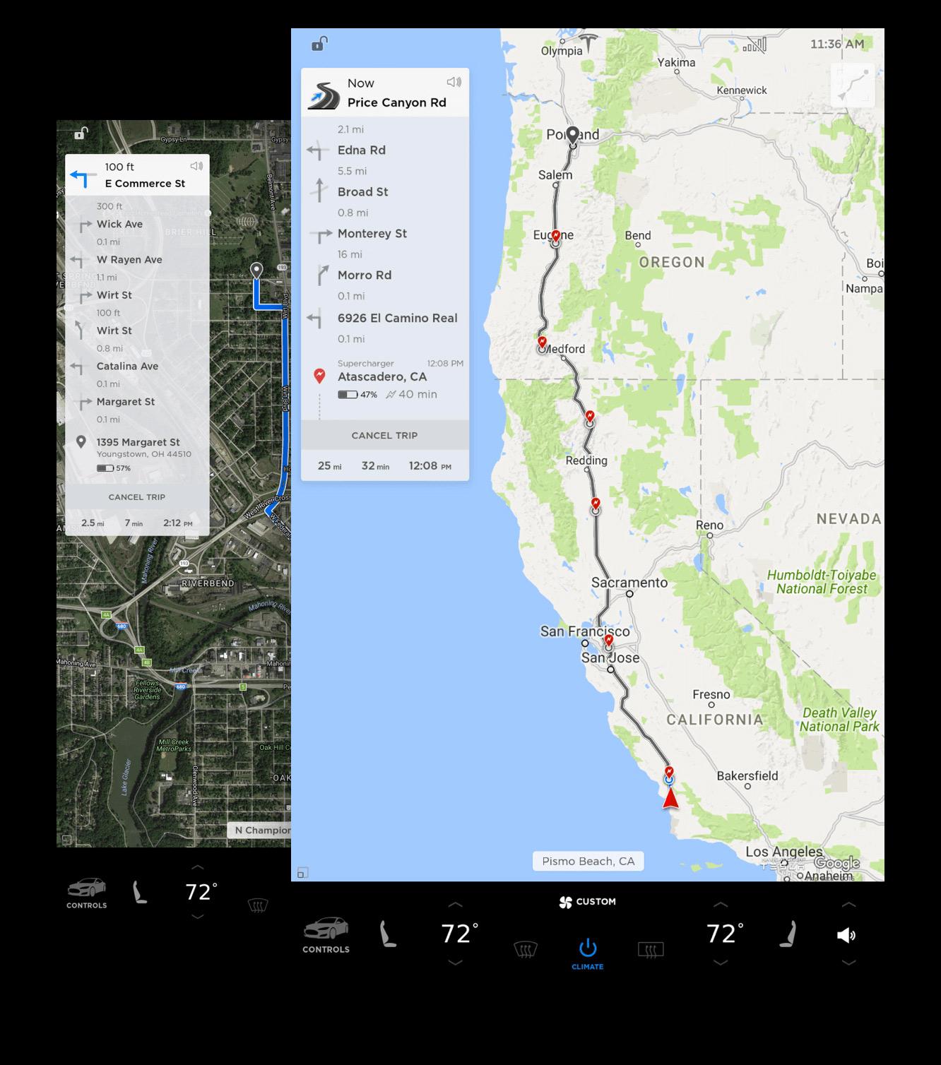 Tesla 8.0 maps