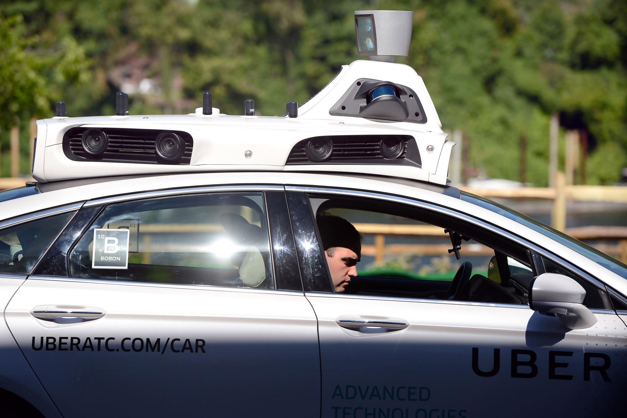 uber ford fusion autonomous details
