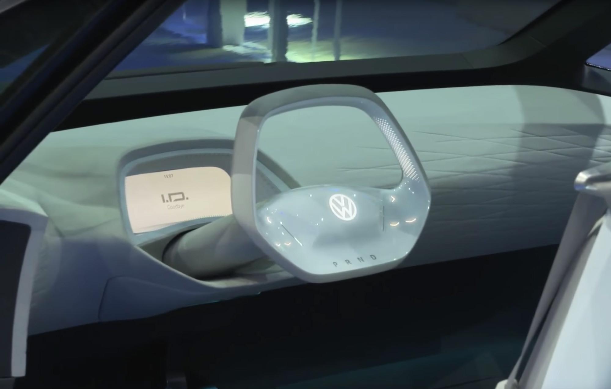 Volkswagen concept car I.D. dashboard