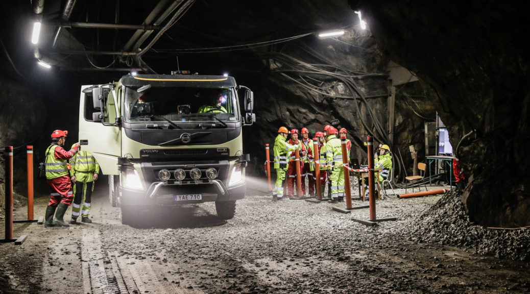 Volvo fully self-driving truck mines