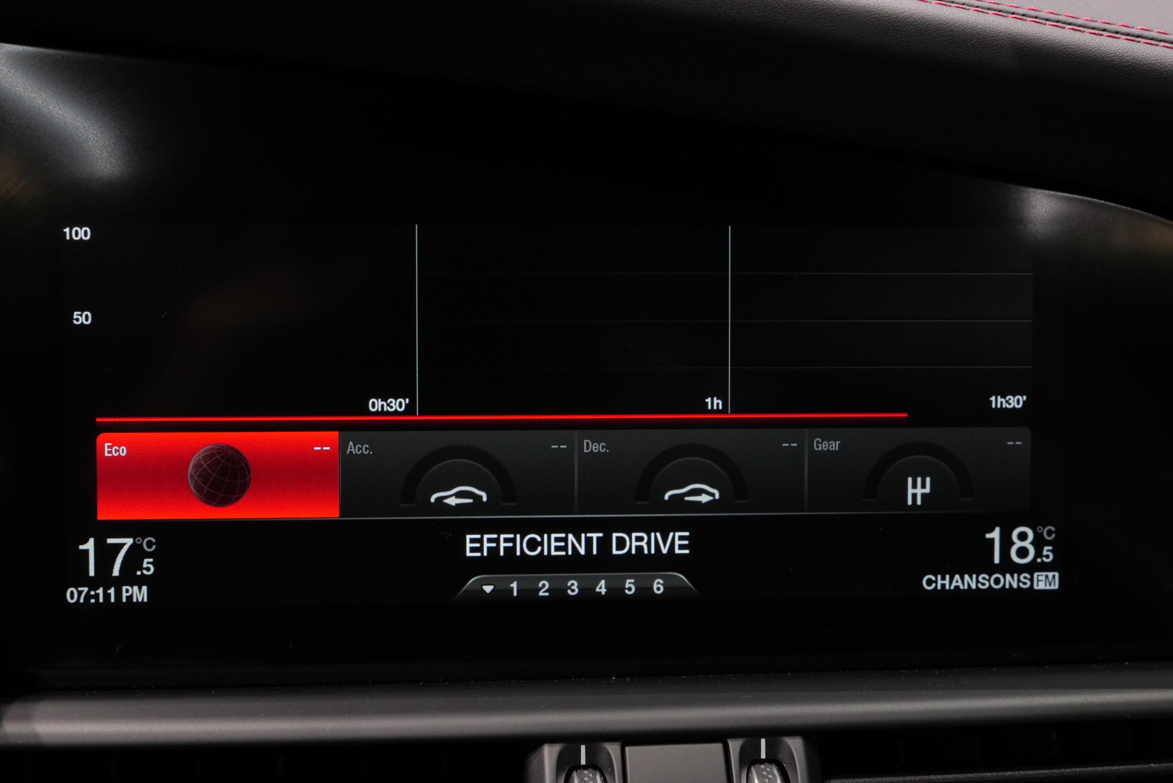 Alfa Romeo Giulia Quadrifoglio cockpit screen