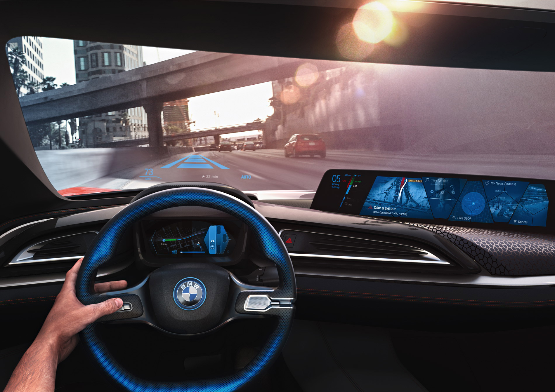 BMW self-driving car interior