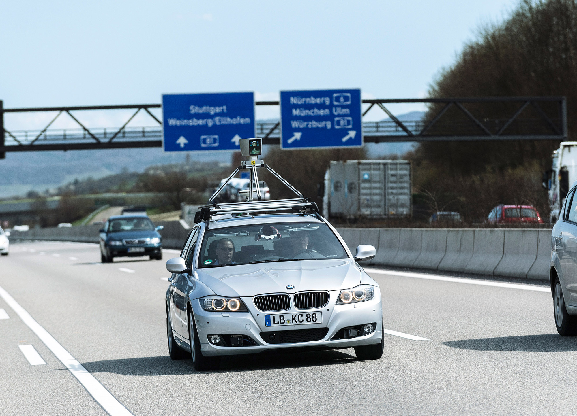 BMW self-driving Germany road
