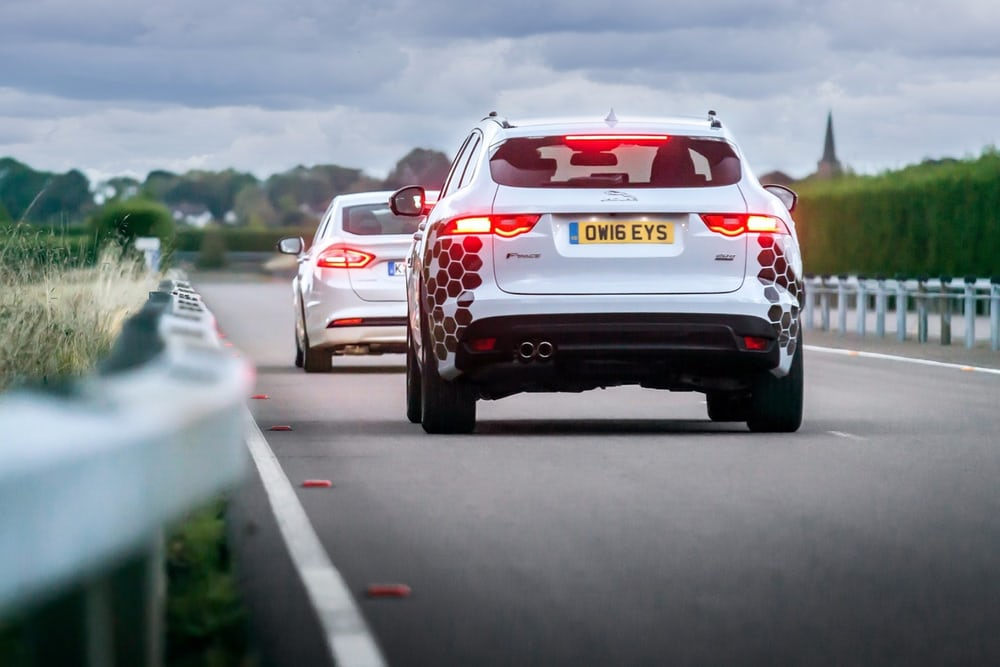 Jaguar Land Rover UK autodrive connected autonomous vehicles trials