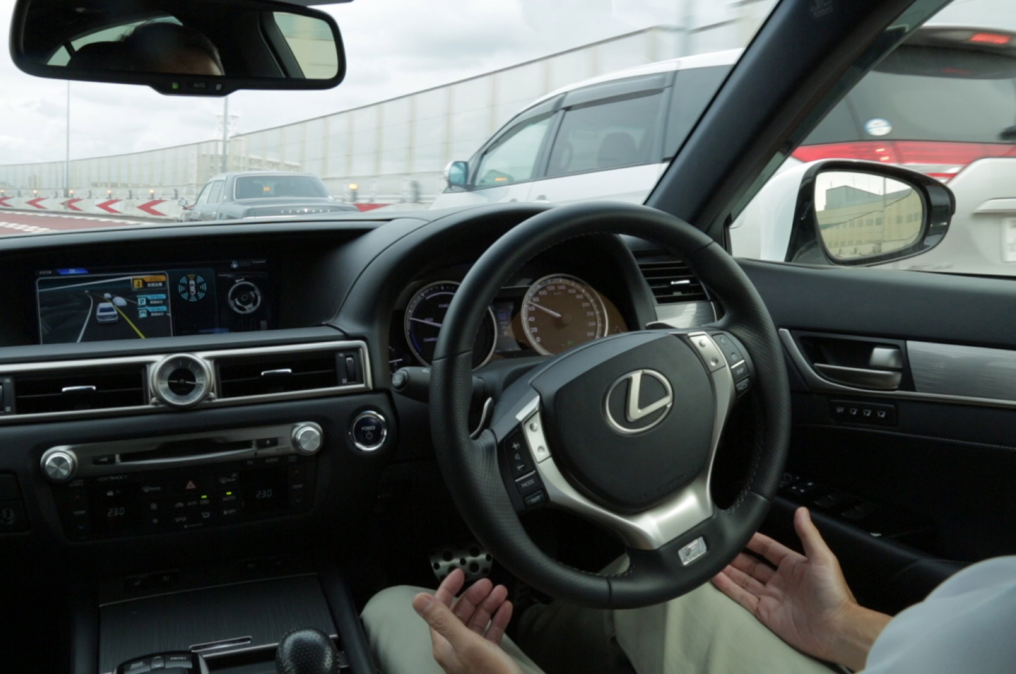 Lexus self-driving interior