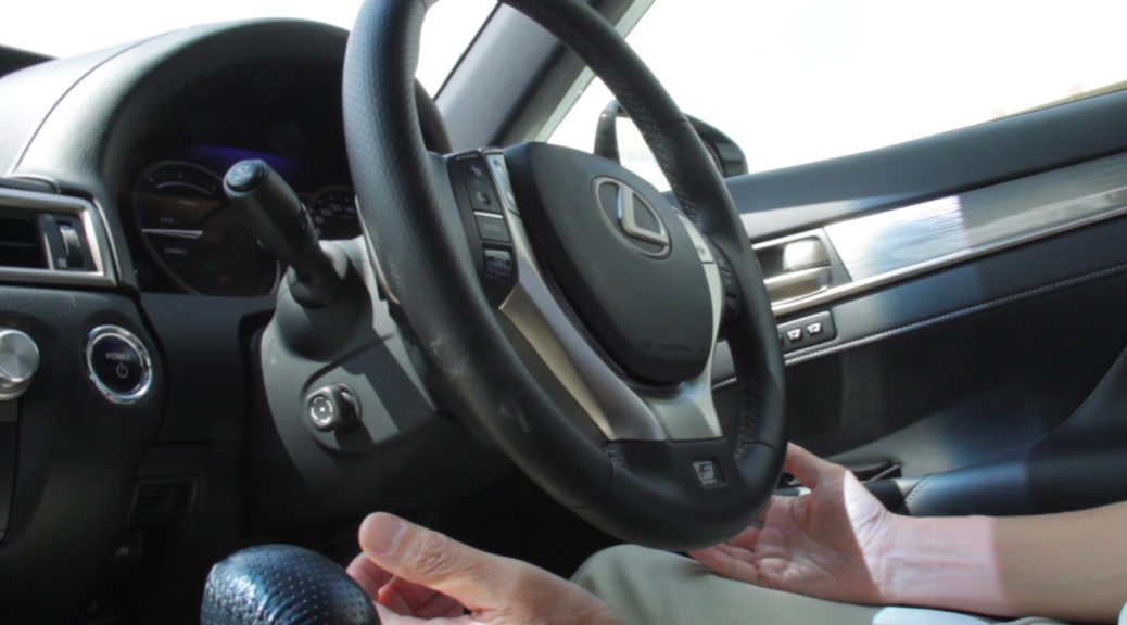Lexus self-driving interior