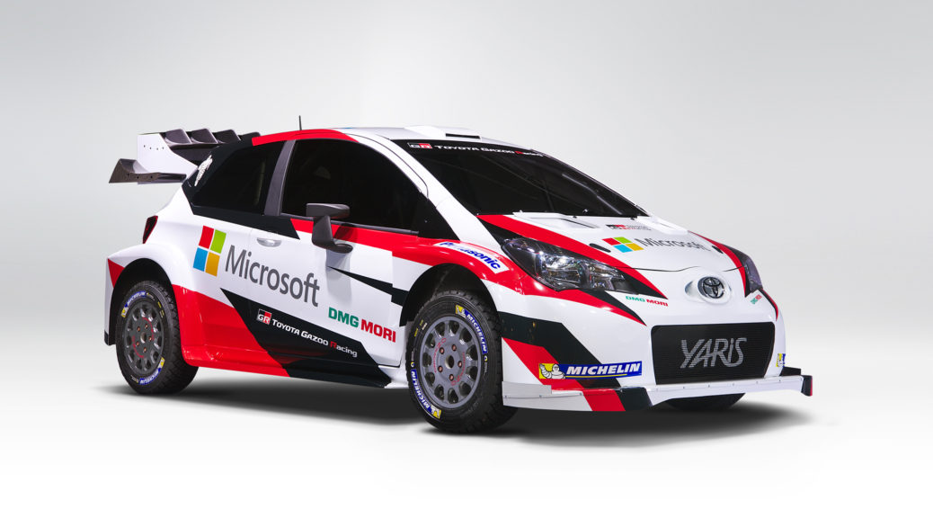 toyota gazoo racing wrc test car