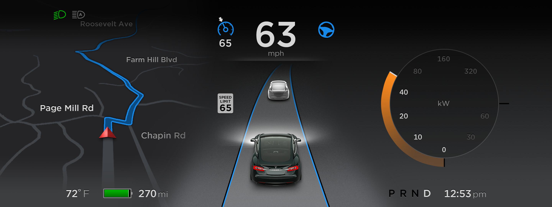 tesla autopilot dashboard