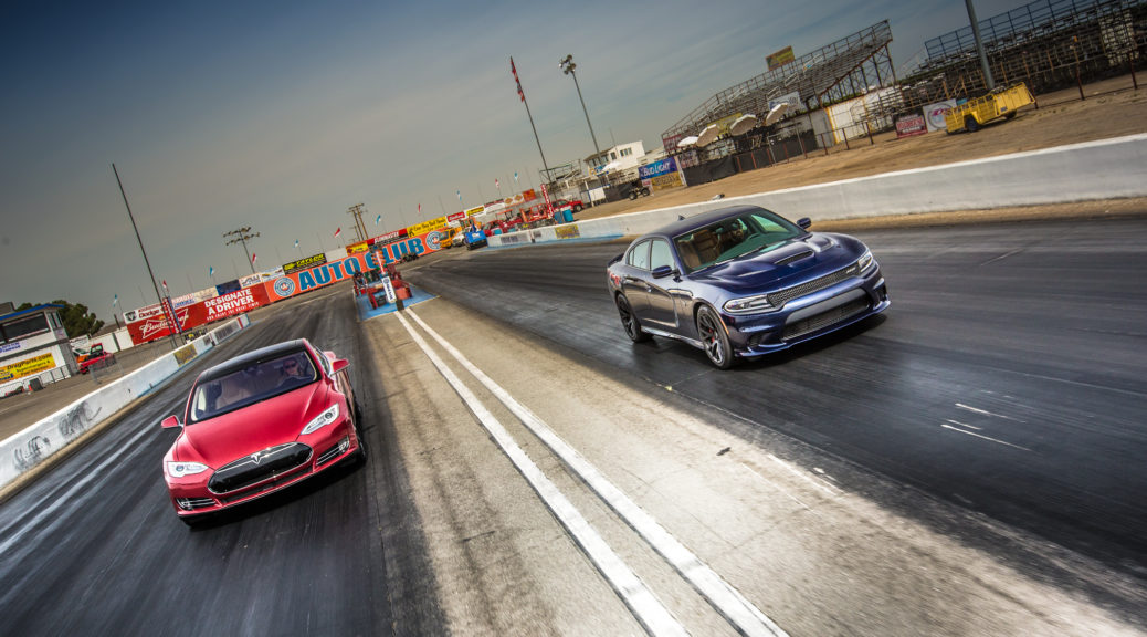tesla model s drag race