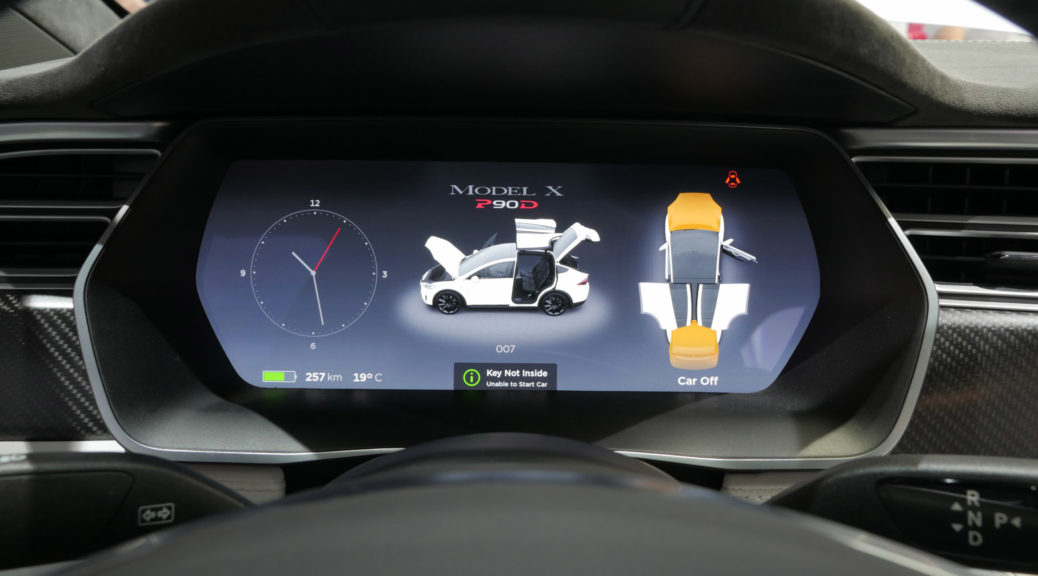 Tesla Model X Autopilot version 8.0