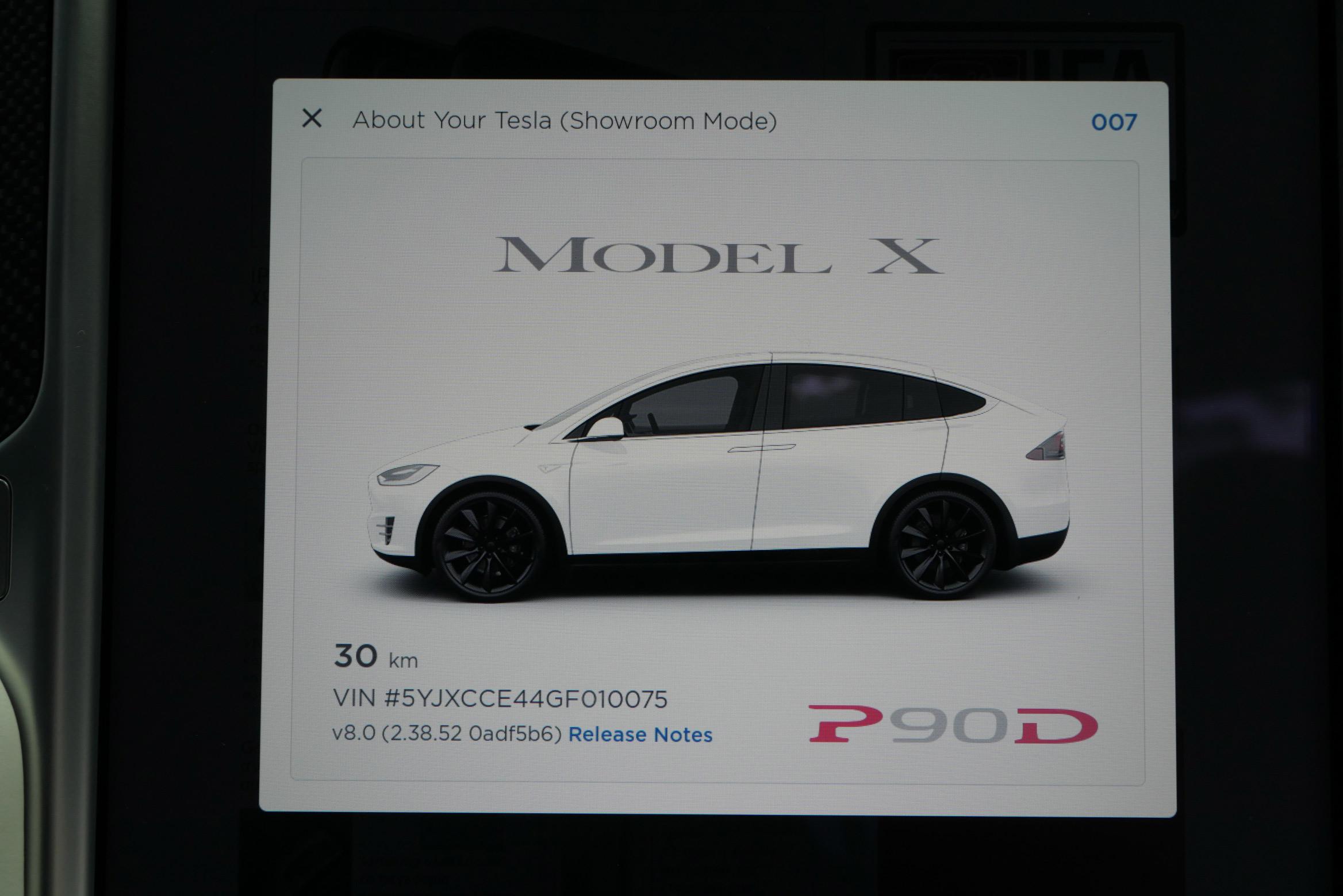 Tesla Model X Autopilot version 8.0