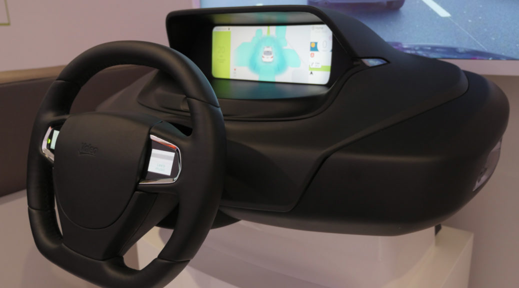 Valeo Mobius concept cockpit hands-on
