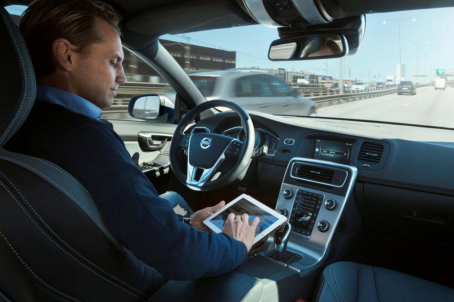 Volvo self-driving tablet interior
