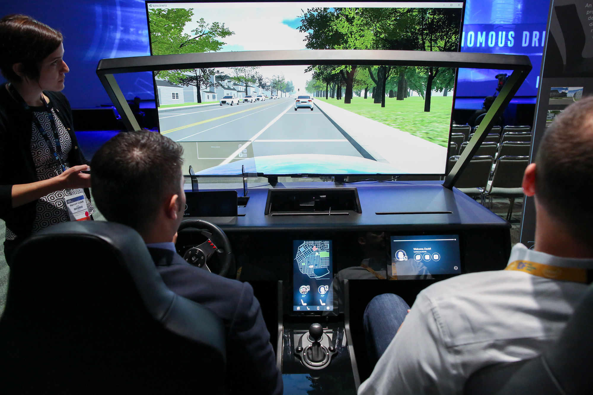 Intel self-driving car simulator