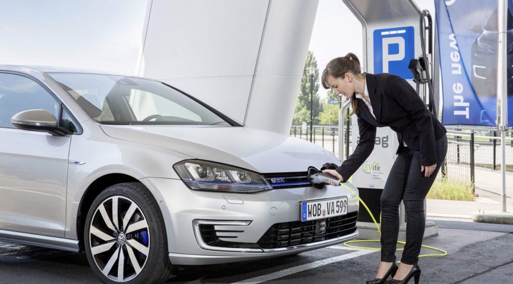 Volkswagen charging station