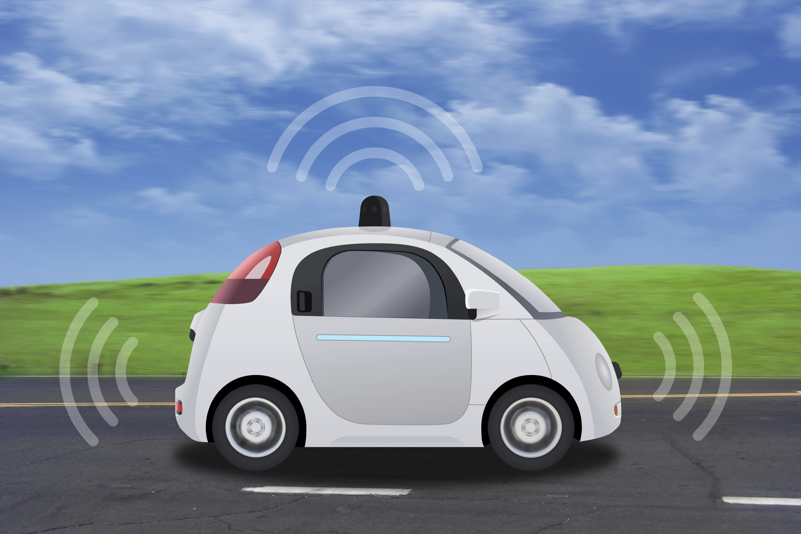 self driving connected
