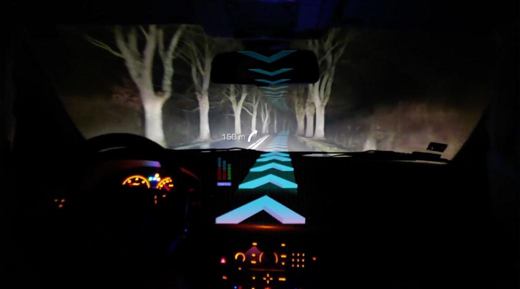 self-driving head up display hud