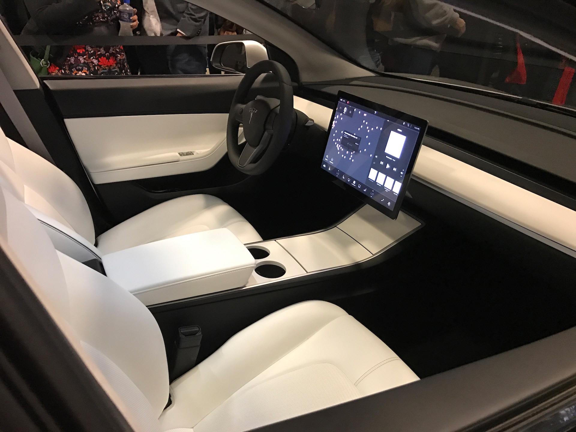 Tesla Model 3 silver interior