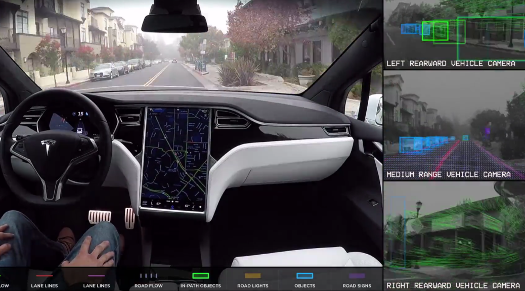 tesla vision self driving video
