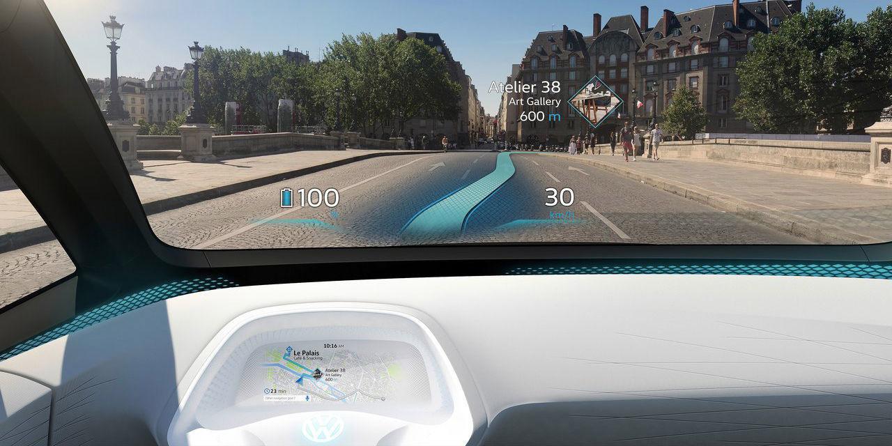 VOLKSWAGEN CONCEPT CAR I.D. HUD Augmented
