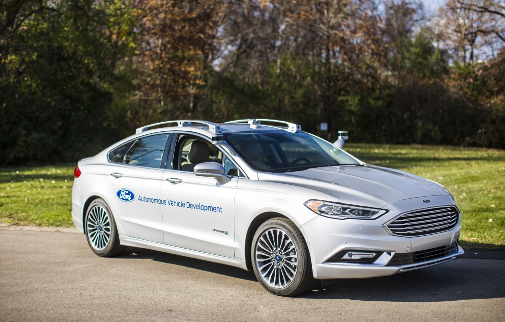 self driving ford fusion 2017