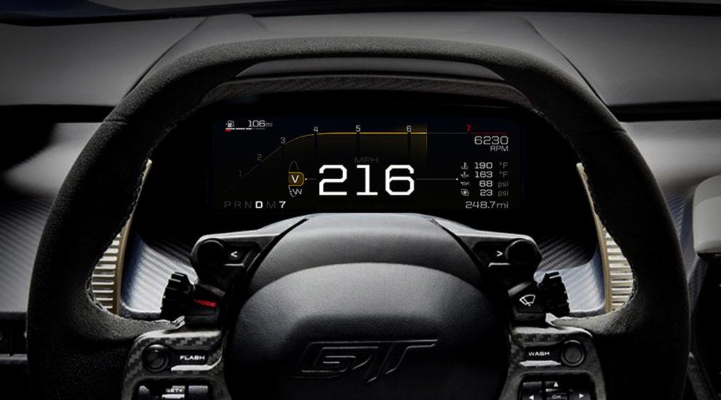 Ford Gt Digital Instrument Cluster 1