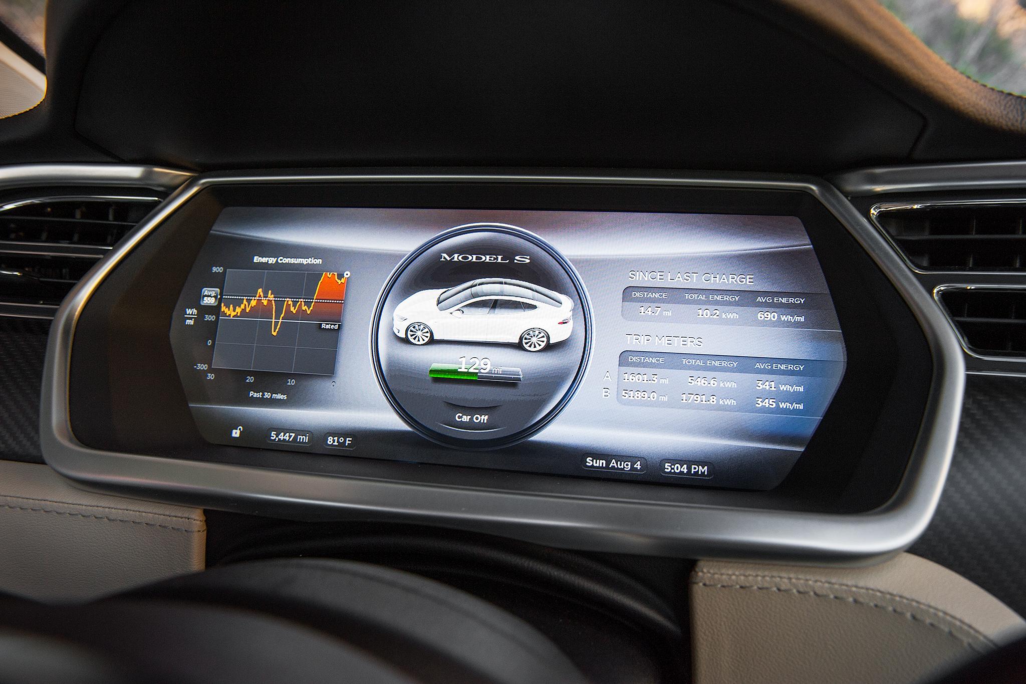 tesla dashboard autopilot