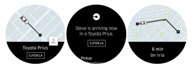 Uber Smartwatch app 2
