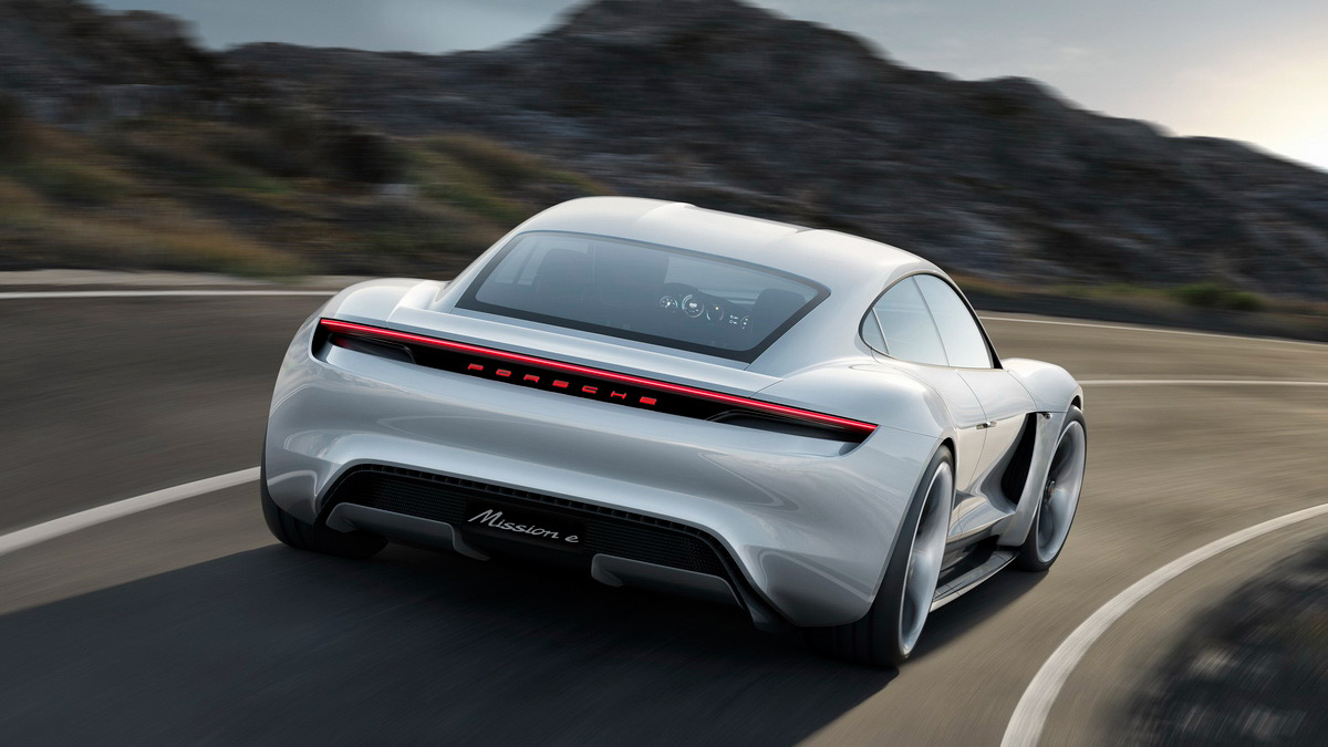 Porsche Mission E electric concept back
