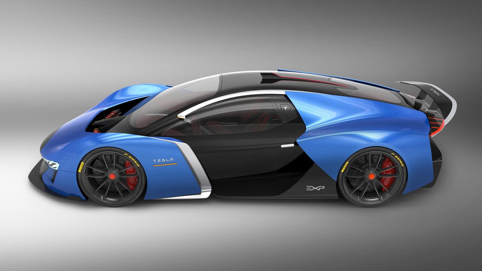 Tesla Model EXP concept hypercar