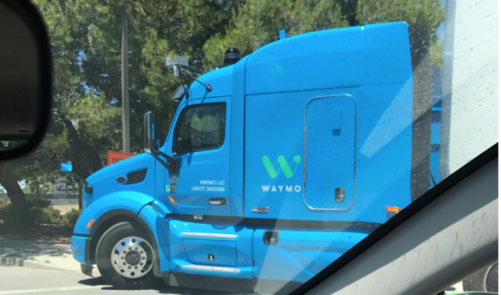 Google waymo self driving truck