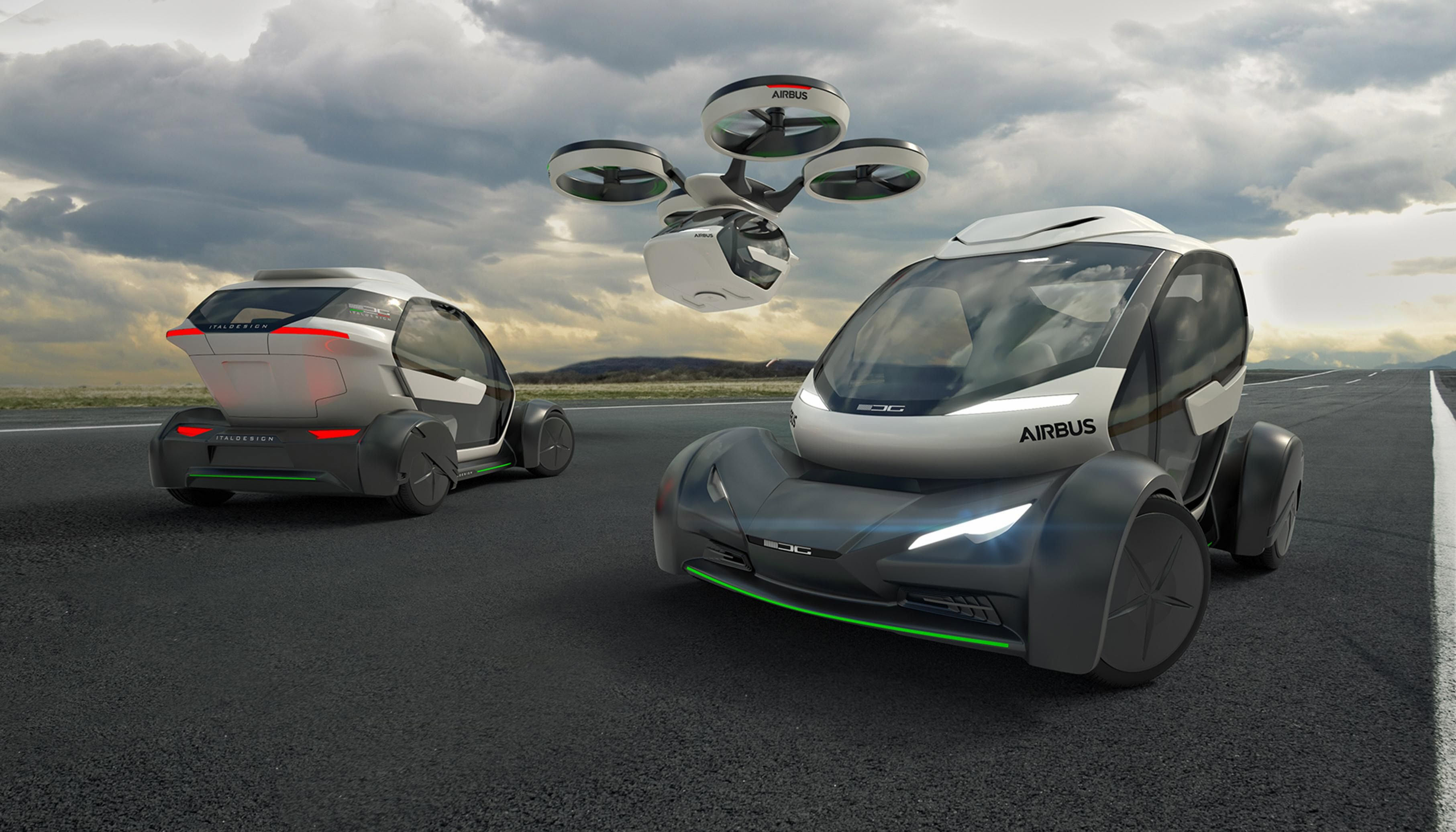 airbus pop.up drone car
